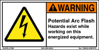 Warning labels for How to read arc flash labels
