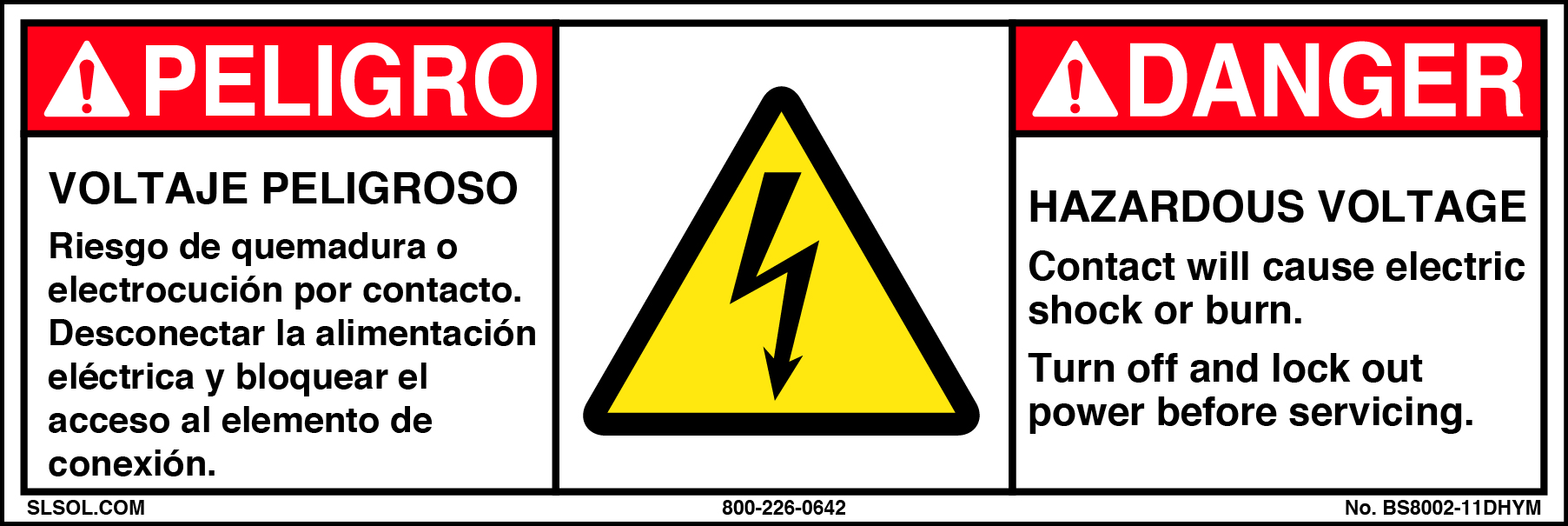 Danger Hazardous Voltage