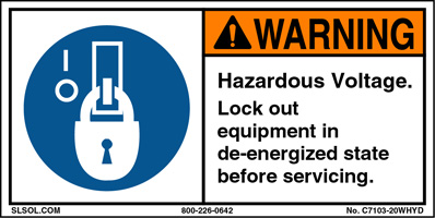 Warning- Hazardous Voltage