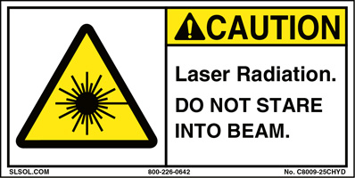 Caution - Laser Radiation