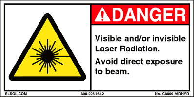 Visible and/or invisible Laser Radiation