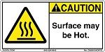 Caution - Surface may be hot