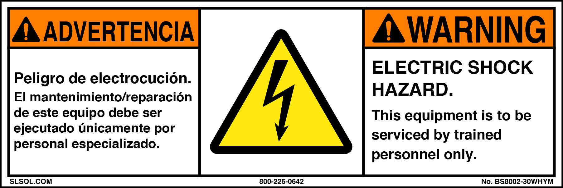 Warning - Electric Shock Hazard