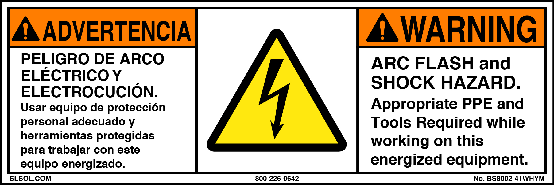 This is a photo of Lively Arc Flash Hazard Label