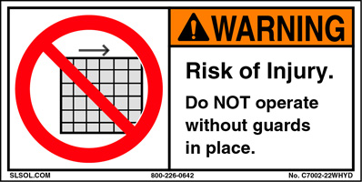 Warning - Do not remove guard