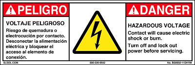 Danger - Hazardous Voltage